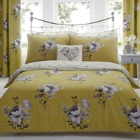 Liana Ochre Reversible Duvet Cover and Pillowcase Set Yellow
