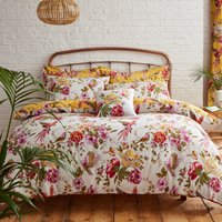 Eliana Yellow Reversible Duvet Cover and Pillowcase Set Yellow