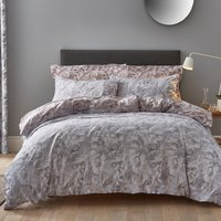 Marble Blush Reversible Duvet Cover and Pillowcase Set Blush (pink)