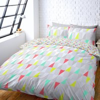 Skandi Brights Reversible Duvet Cover and Pillowcase Set Multi Coloured
