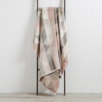 Thermosoft Pink Geo Blanket Pink