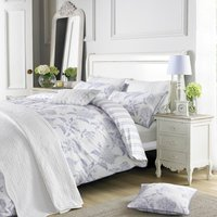Holly Willoughby Rene Blue 100% Cotton Reversible Duvet Cover Blue