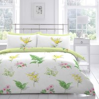 Mimosa Embroidered Duvet Cover and Pillowcase Set Multi-coloured
