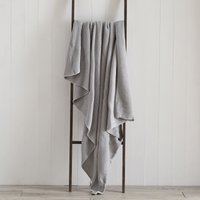 Grey Chunky Breckon Throw Grey
