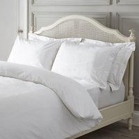 Dorma Plain Dye 300 Thread Count 100% Cotton Percale White Duvet Cover White