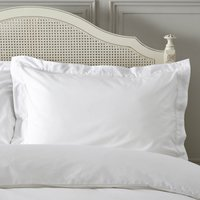 Dorma Plain Dye 300 Thread Count Cotton Percale White Oxford Pillowcase White