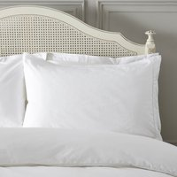 Dorma Plain Dye 300 Thread Count Cotton Percale White Housewife Pillowcase White
