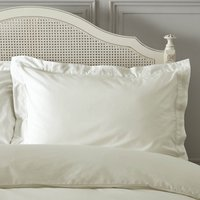 Dorma Plain Dye 300 Thread Count Cotton Percale Cream Oxford Pillowcase Cream (Natural)