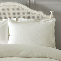 Dorma Plain Dye 300 Thread Count Cotton Percale Cream Housewife Pillowcase Cream (Natural)