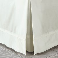 Dorma Plain Dye 300 Thread Count Cotton Percale White Divan Trim Cream (Natural)