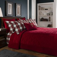 Dorma Isla Red Bedspread Red