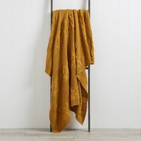 Laken Ochre Throw Ochre Yellow