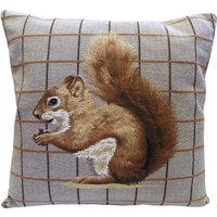 Tapestry Squirrel Cushion Brown
