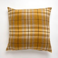 Large Tweed Ochre Cushion Ochre