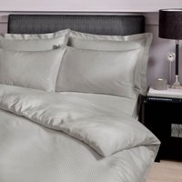 Easycare 300 Thread Count Silver Striped Duvet Cover and Pillowcase Set Silver