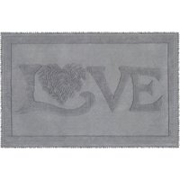 Jan Constantine Classic Love Grey Bath Mat Grey