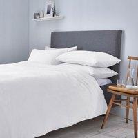 White Waffle 100% Cotton Duvet Cover and Pillowcase Set White