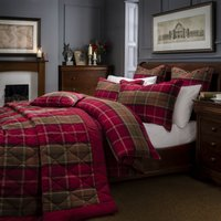 Dorma Lomond Red Bedspread Red
