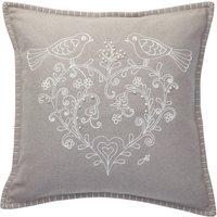 Jan Constantine Grey Love Birds Cushion Grey