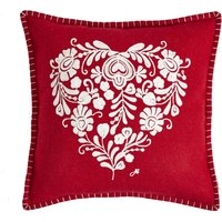 Jan Constantine Classic Heart Cushion Red