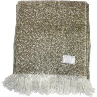 Chic Taupe Faux Mohair Throw Taupe (Brown)