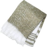 Retreat Taupe Mohair Stripe Throw Taupe (Brown)