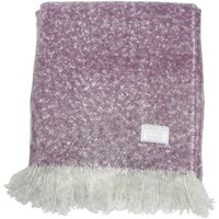 Chic Heather Faux Mohair Throw Heather (Purple)
