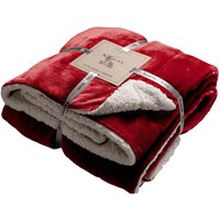 Sherpa Red Throw Red