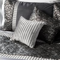 Deco Silver Pleated Cushion Grey