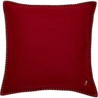 Jan Constantine Large Red Blanket Stitch Cushion Red