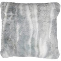 Grey marble faux fur Cushion Grey