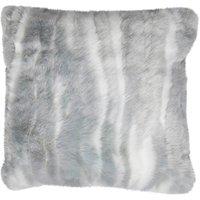 Grey marble faux fur Cushion Grey