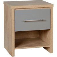 seville grey bedside table grey