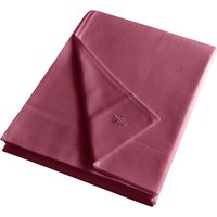 Dorma Luxurious 100% Brushed Cotton Red Flat Sheet Red