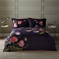 Harris & Hatherly by Jane Abbott Sweet Pea Digitally Printed 100% Cotton Duvet Cover and Pillowcase Set Navy