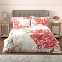 Harris & Hatherly by Jane Abbott Peony Digitally Printed 100% Cotton Duvet Cover and Pillowcase Set Pink