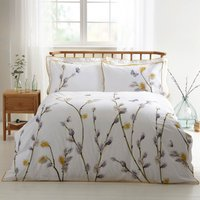Harris & Hatherly by Jane Abbott Willow Digitally Printed 100% Cotton Duvet Cover and Pillowcase Set Yellow