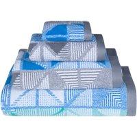 Lindsey Lang Blue Kalid Towel Blue