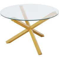 LPD Furniture Oporto Round Dining Table Oak (Brown)
