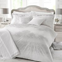 Holly Willoughby Iva 100% Cotton Reversible Duvet Cover Grey