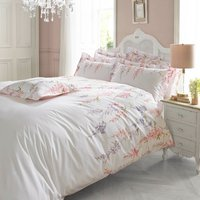 Holly Willoughby Wisteria Pink 100% Cotton Reversible Duvet Cover Pink