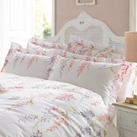 Holly Willoughby Wisteria Pink Oxford Pillowcase Pair Pink