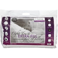 Essentials Hollowfibre Pillow Pair White