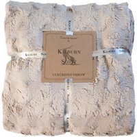 Lomand Taupe Luxury Throw Taupe Cream