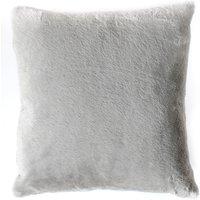 Grey Faux Rabbit Cushion Grey