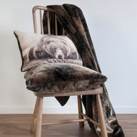 Grizzly Mocha Faux Fur Throw Mocha (Brown)