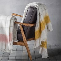 Agnes Yellow Mohair Throw Ochre (Yellow)