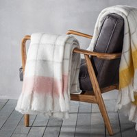 Agnes Blush Mohair Throw Blush (Pink)