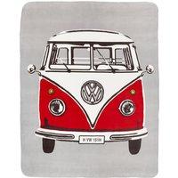 VW Retro Camper Van Throw Multi Coloured