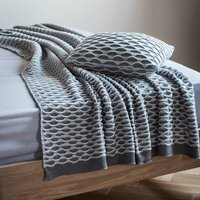 Arcos Grey Knitted Throw Grey